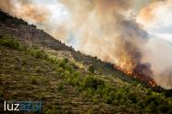 Incendio forestal en la Vall d'Uixó. 2014. Luzazul estudio (Raúl Rubio