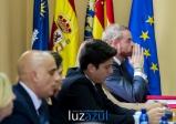 El ex alcalde Óscar Clavell, junto al resto de concejales electos del PP.
